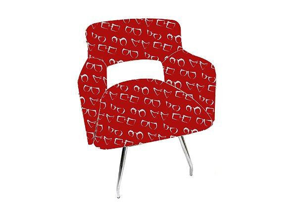 CADEIRA Revestida_1 Lugar Modelo: Sant cor Vermelho