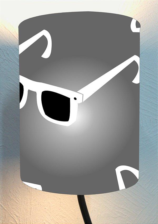 CÚPULA_ILUMINAÇÃO 20x25cm Modelo: STRACCIATTA cor Cinza