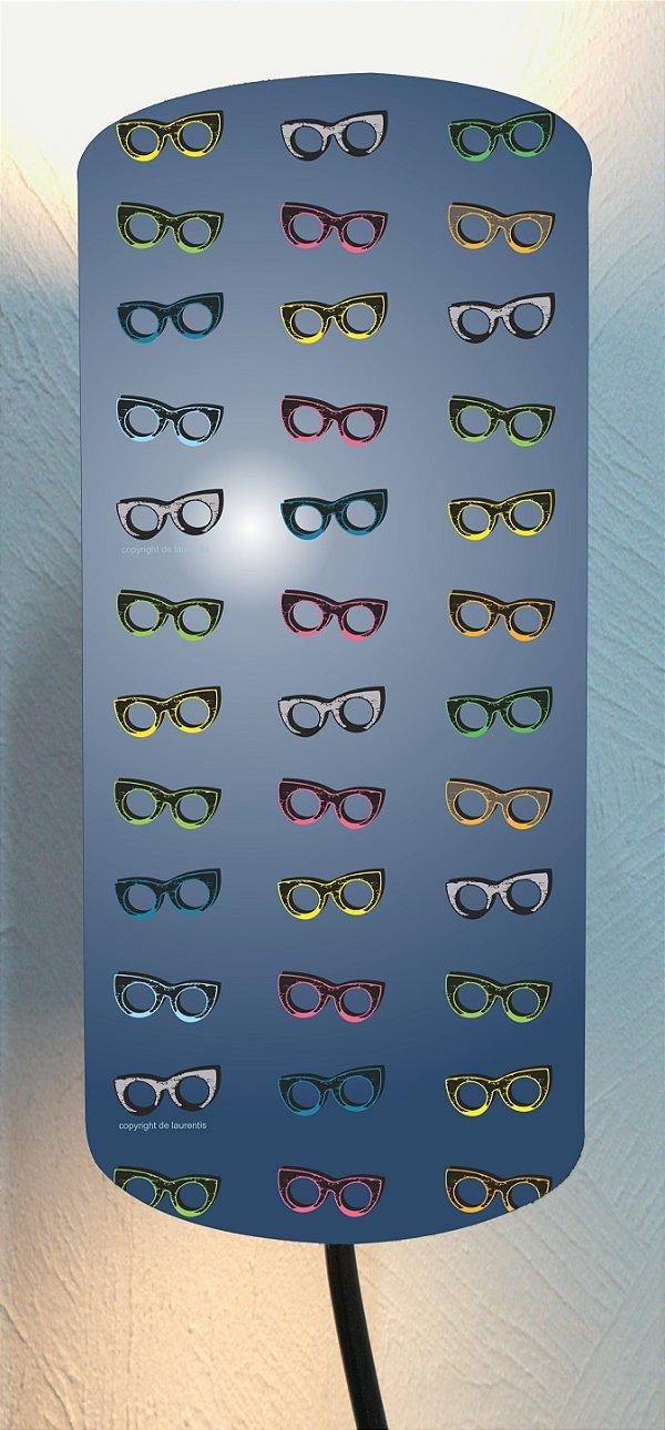 CÚPULA_ILUMINAÇÃO 20x40cm Modelo: THY cor Azul