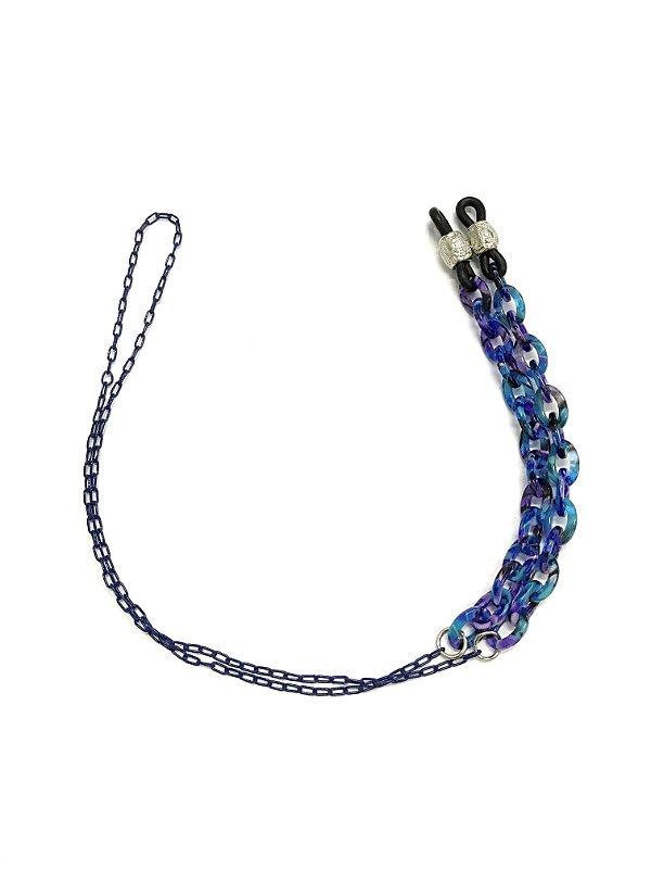 CORRENTE CATENELLE Acetato Modelo: MOD1-M-H2718 cor Azul