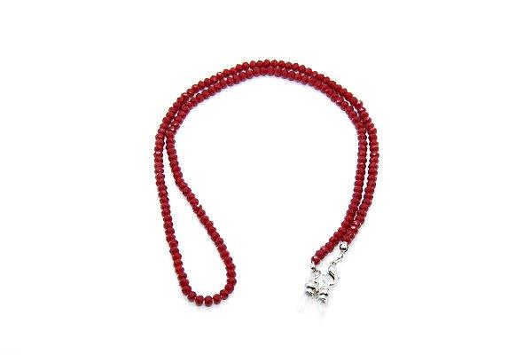 CORRENTE CRISTAL Modelo: TCHECO P cor Vermelho