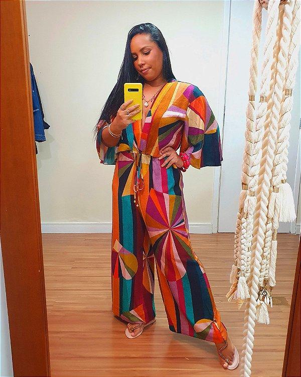 Macacão Pantacourt estampa Mimo Dress To