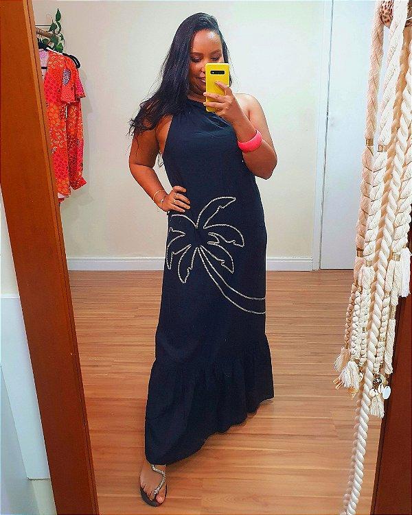Vestido Midi Coqueiro Preto Dress to