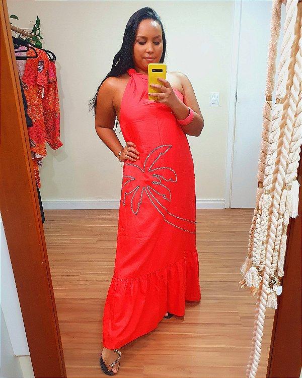 Vestido Midi Coqueiro Vermelho Dress to