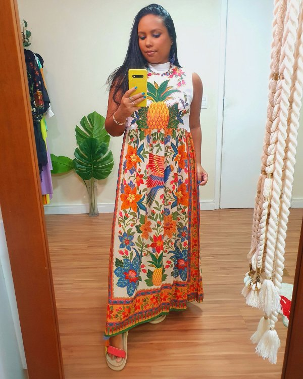 Vestido Silk Abacaxi - Farm