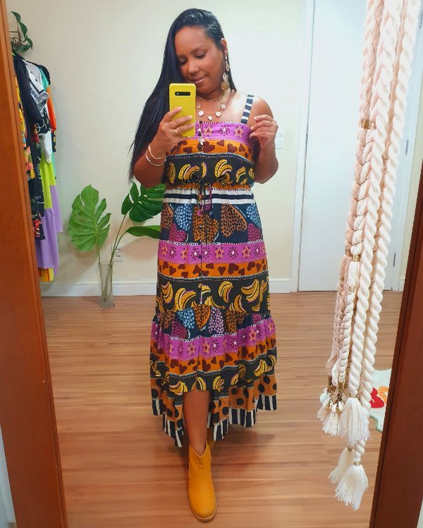 Vestido Midi Estampa Amoreco - Dress To
