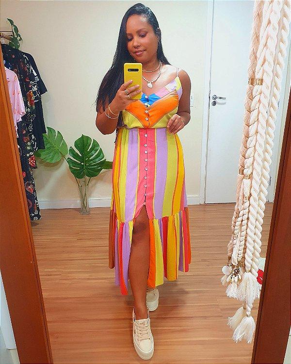Vestido Mdi Estampa Sunrise - Dress To
