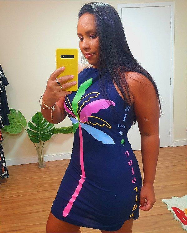Vestido Alma Colorida Azul - Liz
