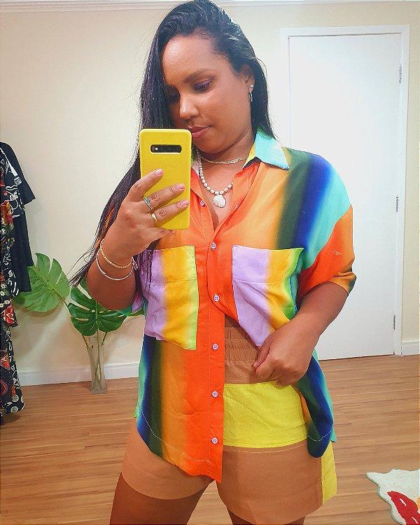 Camisa Boy Estampa Alvorada - Dress To