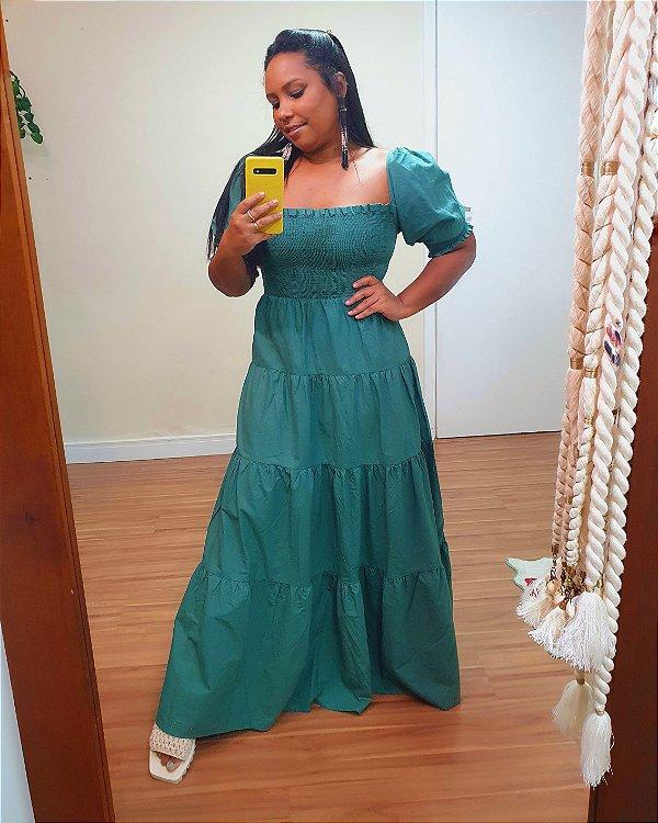 Vestido Cropped Marias Verde Piscina - Farm
