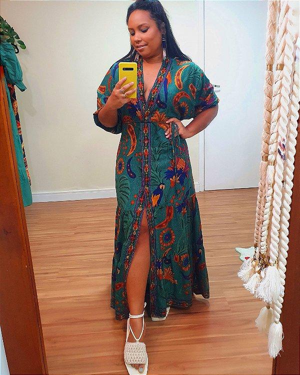 Vestido Kimono Tapecaria - Farm