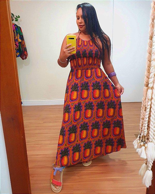 Vestido Midi Suco De Abacaxi - Farm
