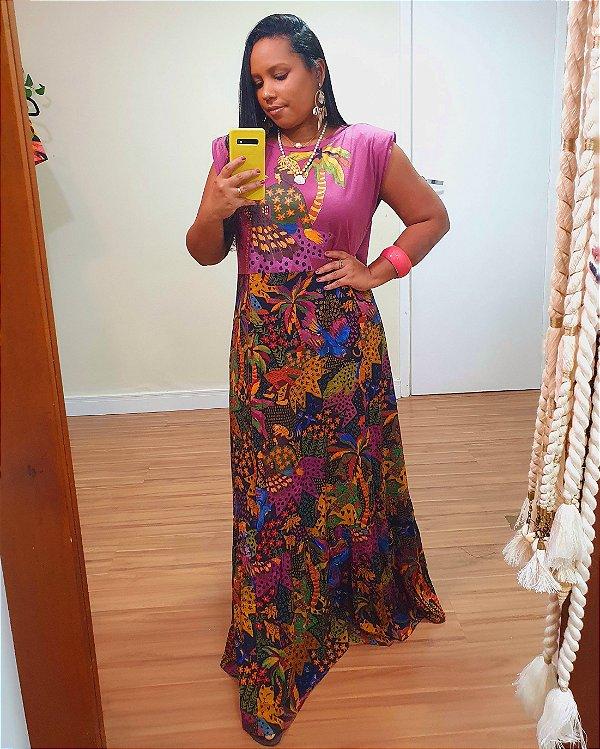 Vestido Cropped Silk Gavião - Farm