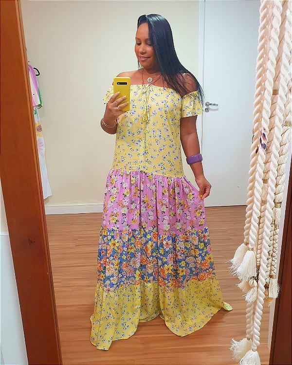 Vestido Longo Estampa Floraria - Dress To