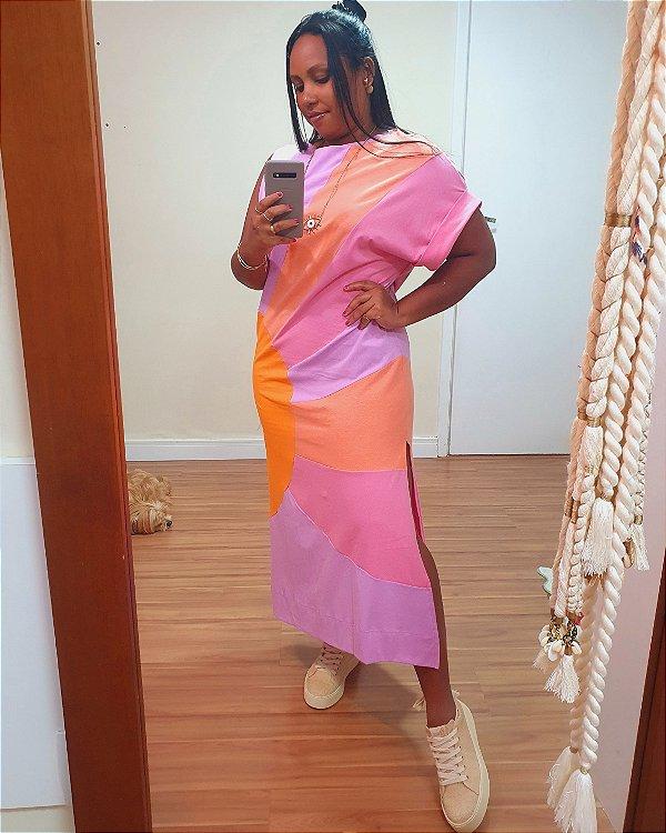 Vestido Amplo Sol Colorido - Dress To