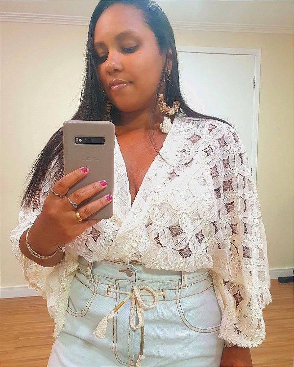 Body Rendado Off White - Dress To