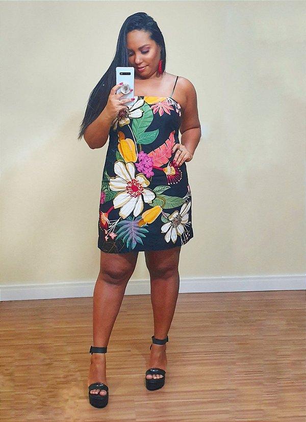 Vestido Curto Festa de Flor Farm - Exclusivo de Multimarca