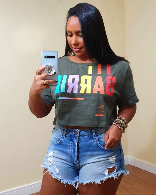 T shirt Farm Cropped Barril