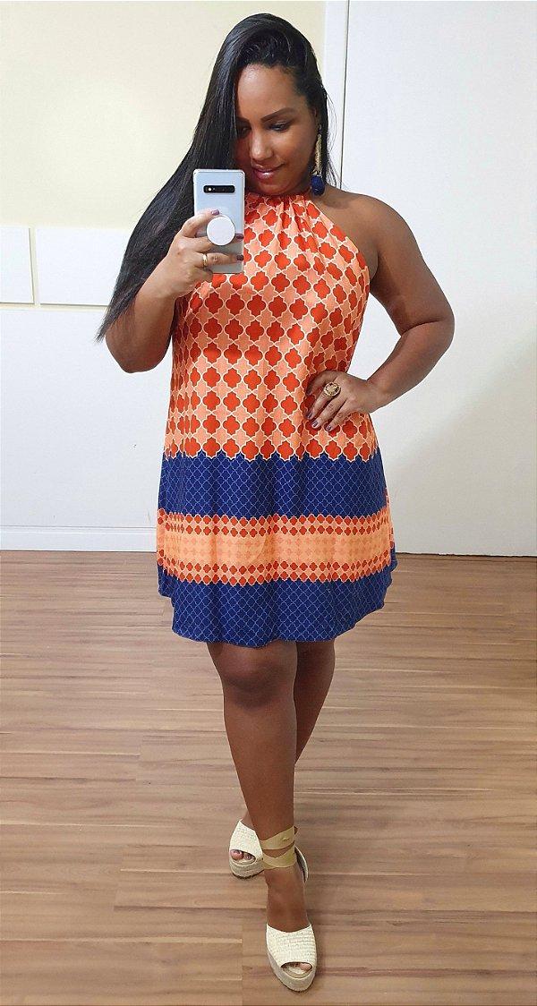 Vestido Dress to Curto Estampa Bahae
