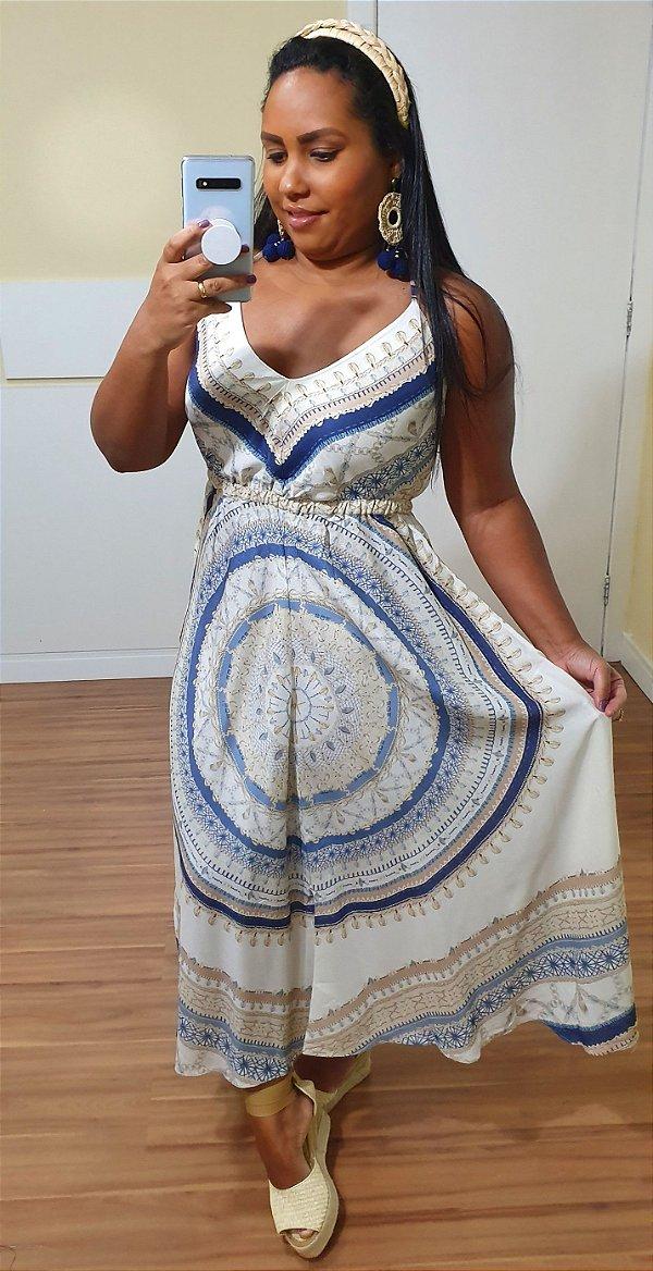 Vestido Dress to Midi Estampa Maralto