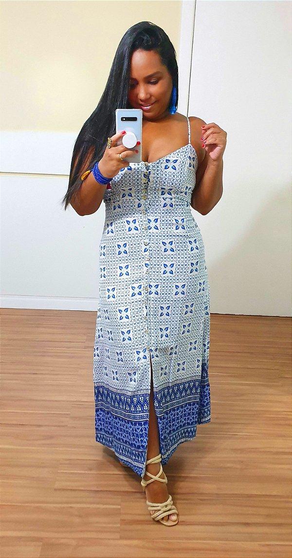 Vestido Dress to Midi Estampa Sardina - Exclusivo de multimarca