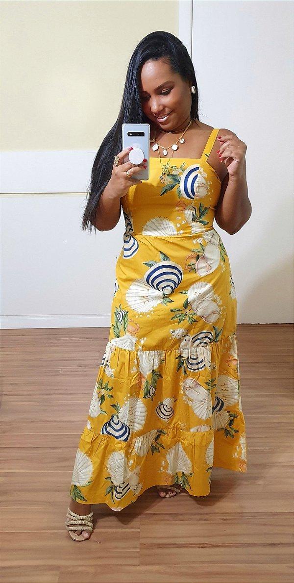 Vestido Dress to Midi Estampa Amar