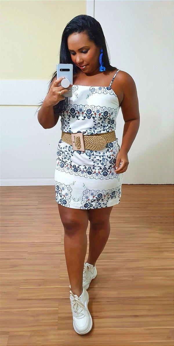 Vestido Dress to Alcinha Estampa Azulejo - Exclusivo de multimarca