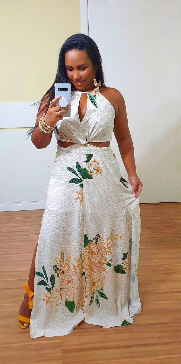 Vestido Dress to Longo Estampa Harmonia
