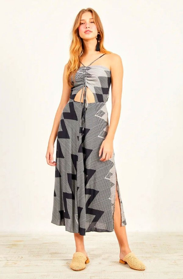 Vestido Dress to Midi Estampa Zig Zag - Exclusivo de multimarca