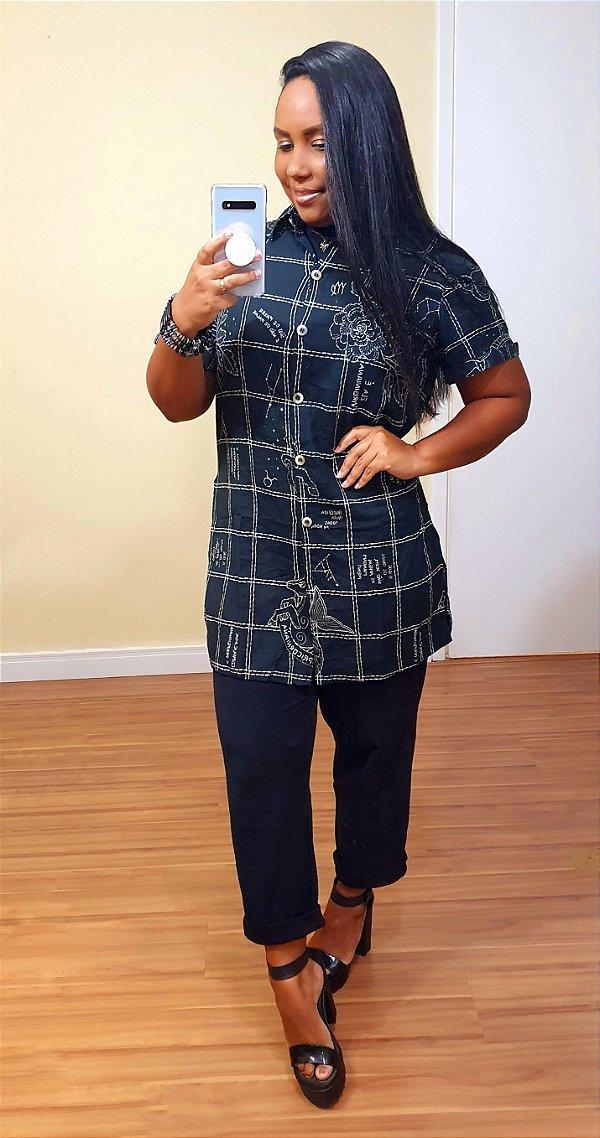 Camisa Dress to Estampa Terra - Signos Virgem, Capricórnio e Touro