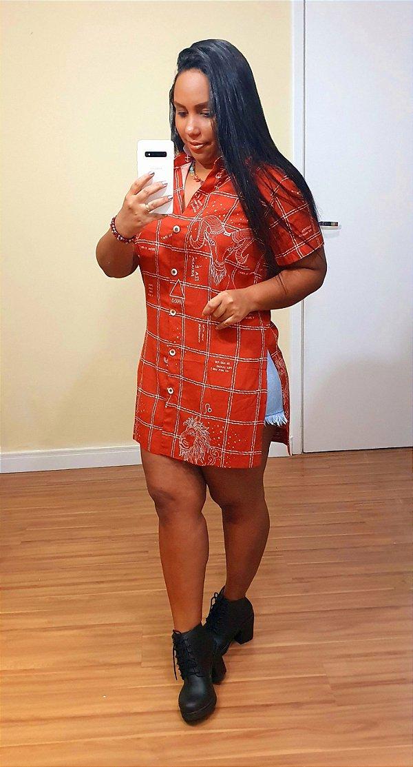 Camisa Dress to Estampa Fogo - Signos Áries, Leão e Sagitário
