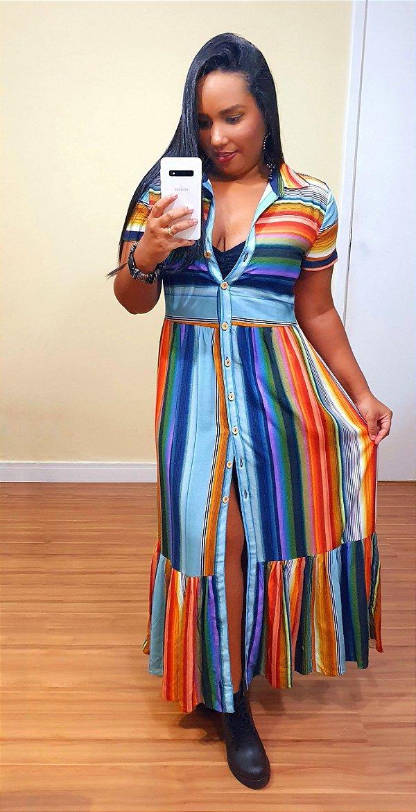 Vestido Dress to Longuete Estampa Equilíbrio