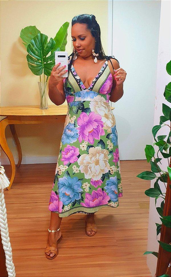 Vestido Farm Amarração Liz