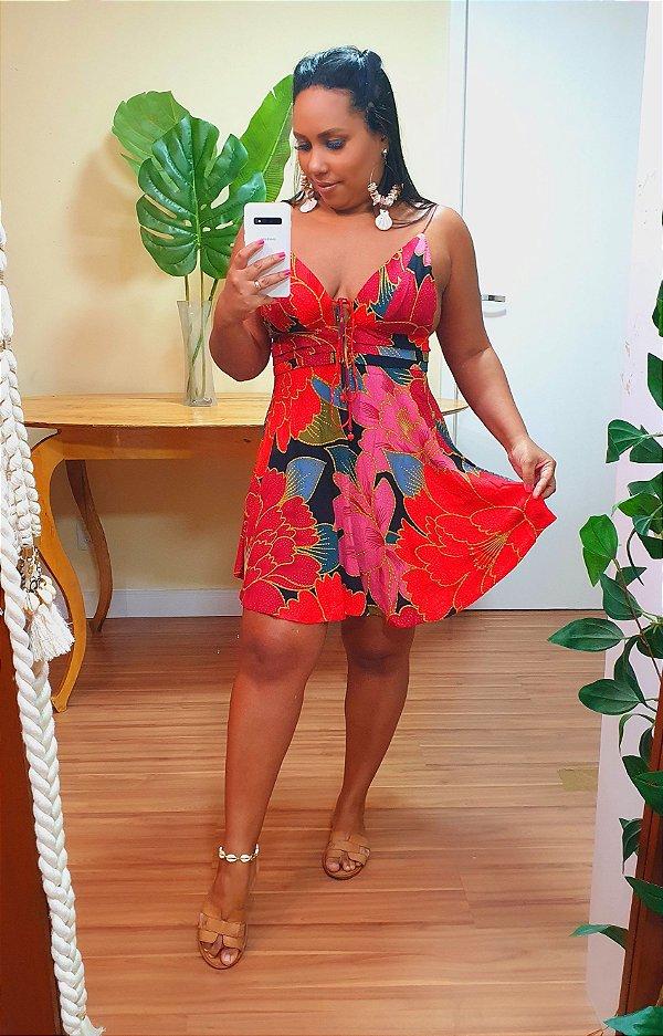 Vestido Farm Curto Chita Solar - Exclusivo de Multimarca