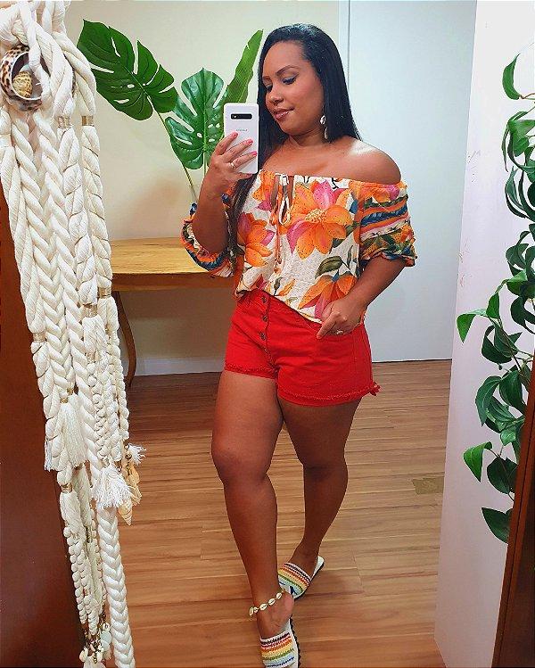 Short Dress to Color Vermelho Urucum