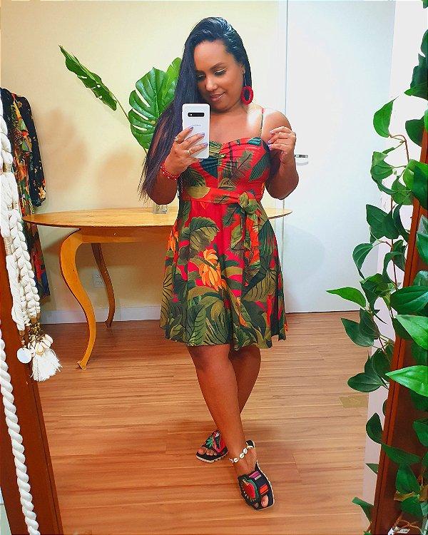 Vestido Farm Curto São Tomé