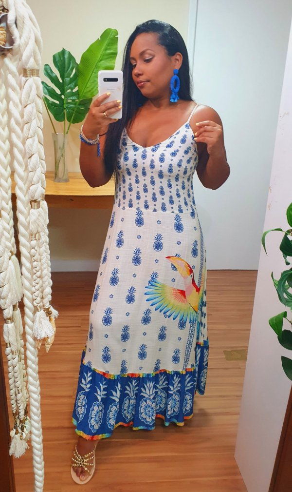 Vestido Farm Cropped Abacaxizinho