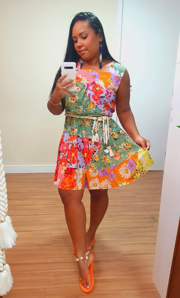 Vestido estampa Rainbow Dress To