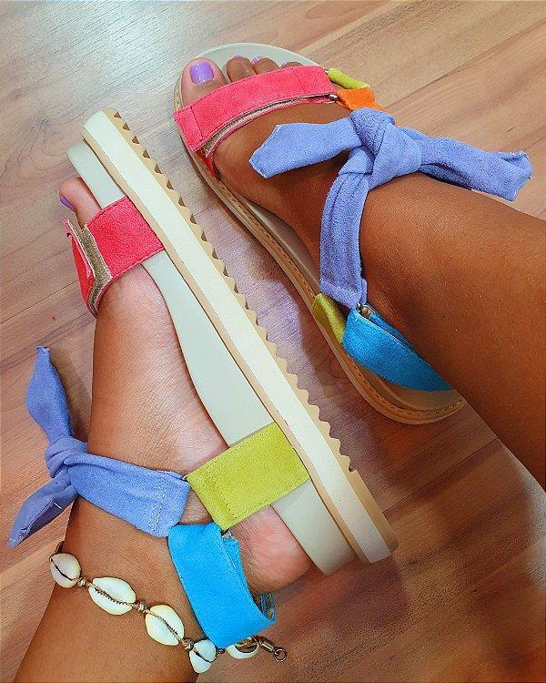 Sandália Papete Color Colorida-Dress
