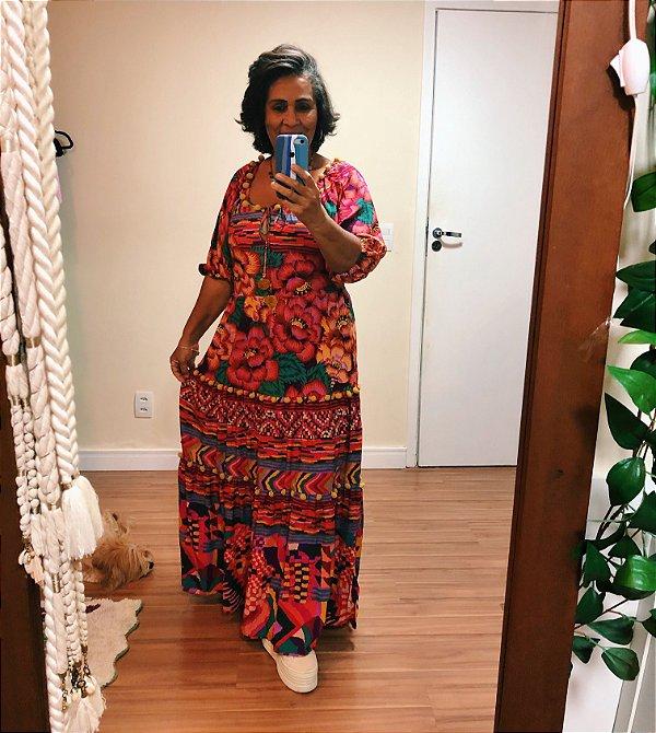 Vestido Longo estampa Ainika Farm