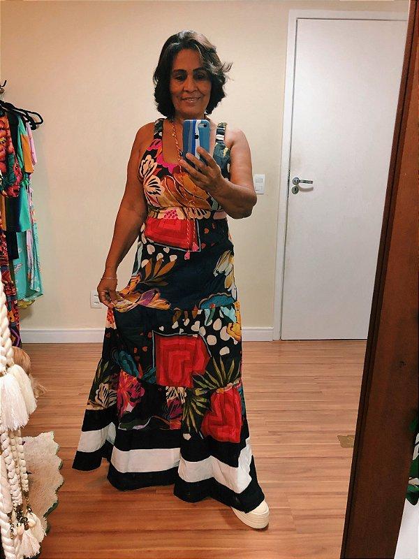 Vestido Cropped Tricoline Estampa Alegria Dress to