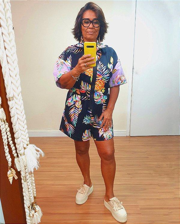 Macaquinho Moletom Estampa Color Dress To