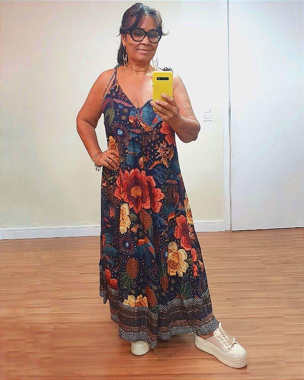 Vestido Cropped Estampa Conto das Aguas Farm
