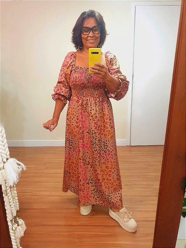 Vestido Midi Estampa Onçafari Dress To