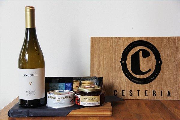 Vinho, queijo e geléia