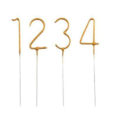 Vela Número Dourado