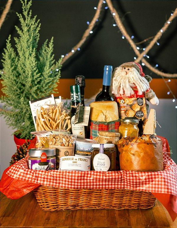Cesta Vinho, Espumante e Papai Noel