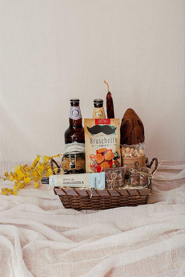 Cesta Cervejas e Pão Australiano