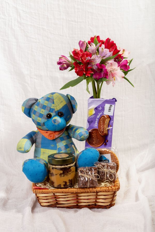 Cesta Urso e Brownie