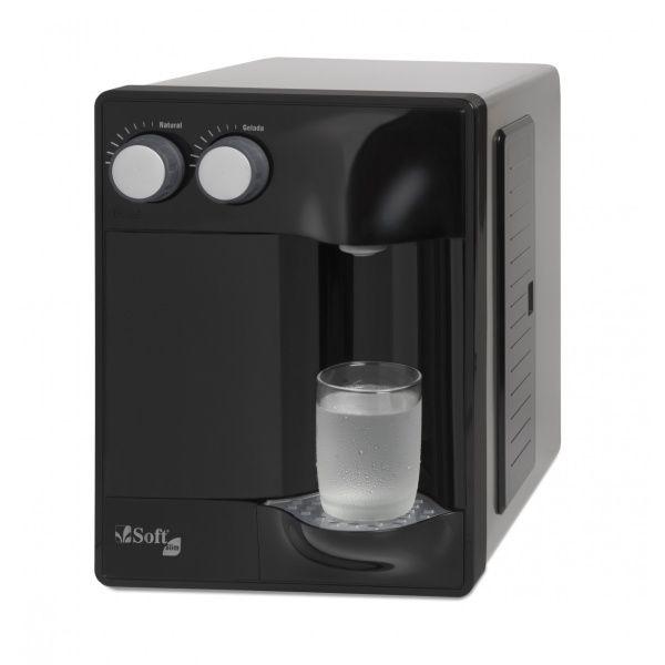 Purificador de Água Soft Slim by Everest - Preto (Com Refrigeração)